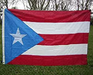 Puerto Rico 3 ft x 5 ft Cotton State Flag- Puerto Rico w/ Light Blue Brass Grommets, New