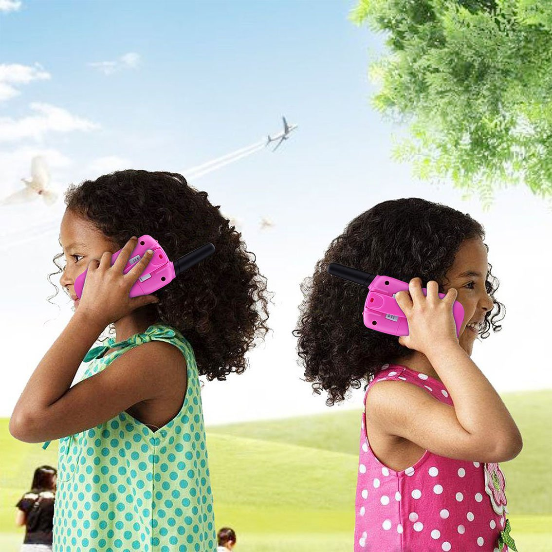 Toys for 3-12 Year Old Girls, DIMY Walkies Talkies for Kids Girls Toys Age 3-12 Year Old Girl Outdoor Toys for Kids Pink DJ06 by DIMY (Image #2)