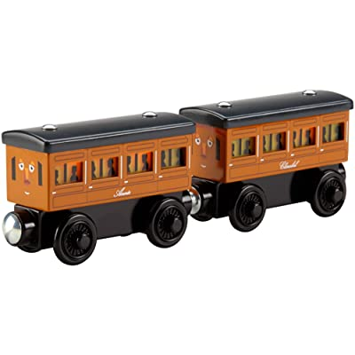 Fisher-Price Thomas & Friends Wooden Railway, Light-Up Reveal Annie & Clarabel - Battery Operated: Toys & Games