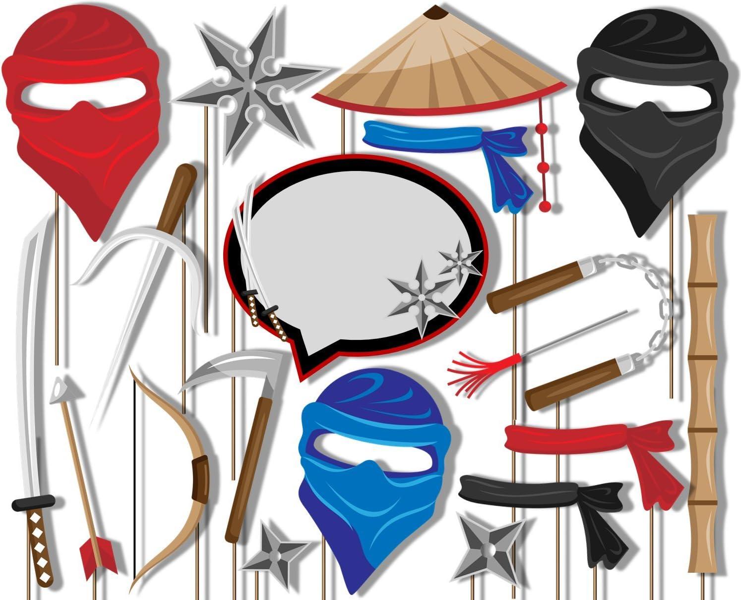 Kit de accesorios para cabina de fotos de cumpleaños Galore Ninja ...