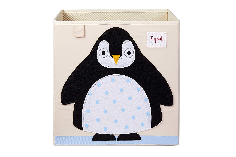 3 Sprouts Aufbewahrungsbox Ordnungskiste Pinguin 13 x 13 x 13 cm