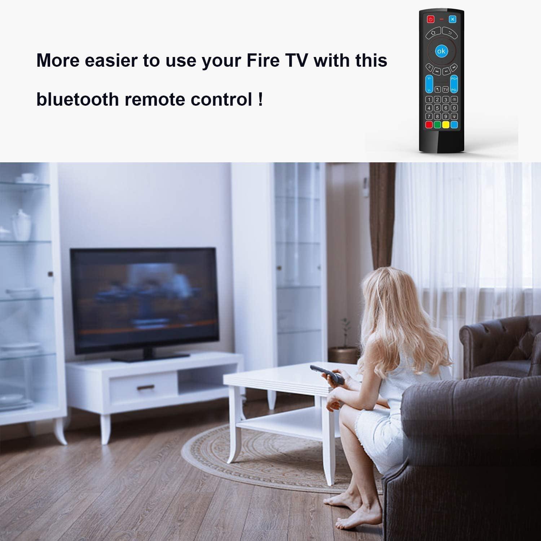 GOWELL Bluetooth Remote específicamente compatible con Amazon Fire TV y Fire TV Stick Control remoto de aire con teclado Air Mouse, compatible con Windows / Raspberry pi 3- (No Alexa): Amazon.es: Electrónica