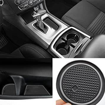 6pcs//Set, red Auovo Anti dust Mats for Dodge Charger 2015 2016 2017 2018 2019 2020 Accessories Custom Fit Cup Holder Liners Mats