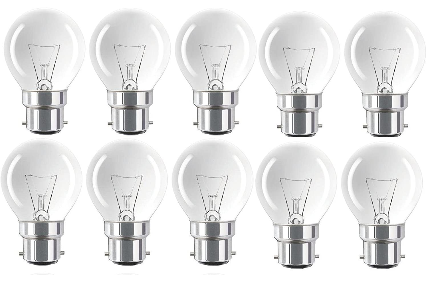 cap mini round dimmable mains bayonet light incandescent lamps pack classic ball golf eveready bulbs bc dp globes clear