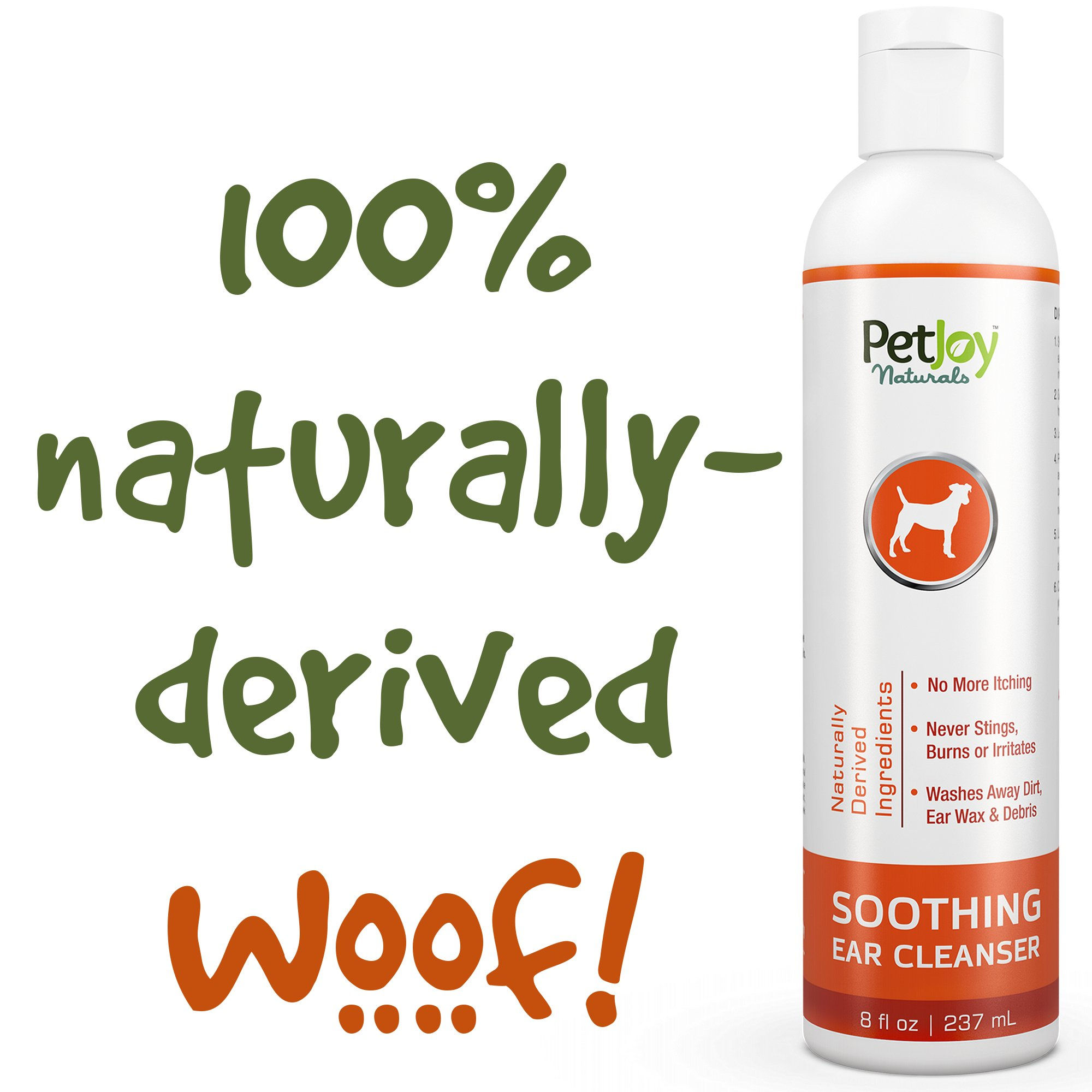 PetJoy Naturals Ear Cleanser for Pets 8 Ounce