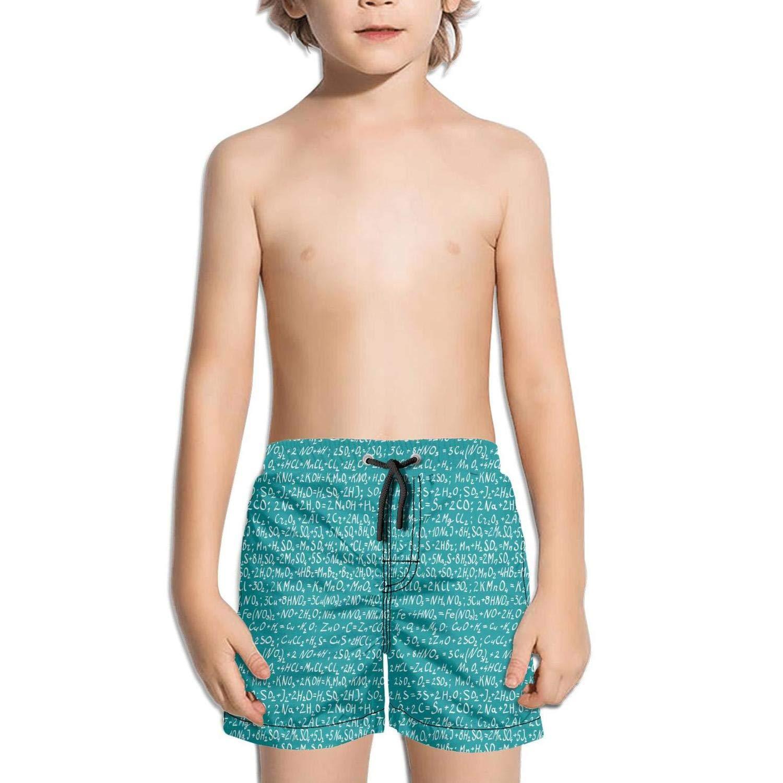 Trum Namii Boys Quick Dry Swim Trunks Chemical Molecular Structure Equation Shorts