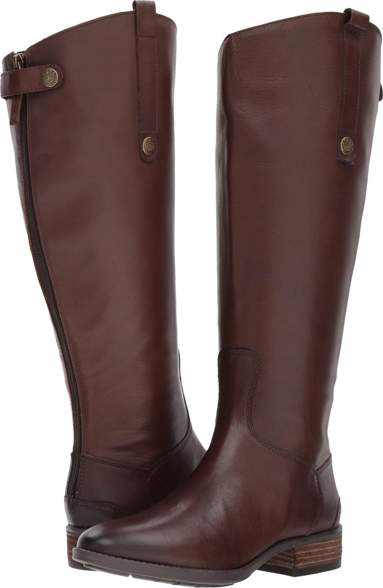 Sam Edelman Women's Penny 2 Dark Brown Basto Crust Leather 7 W US