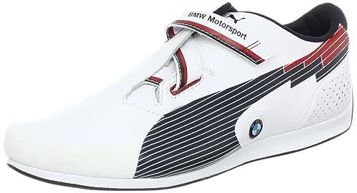 Puma Evospeed Low BMW - Zapatillas de cuero para hombre BMW Team Blue-White, color, talla 44: Amazon.es: Zapatos y complementos