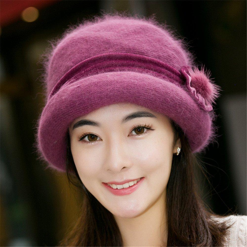 Sombreros de mujer, señoras, de mediana edad y ancianos, sombreros de lana, sombreros de invierno cá...