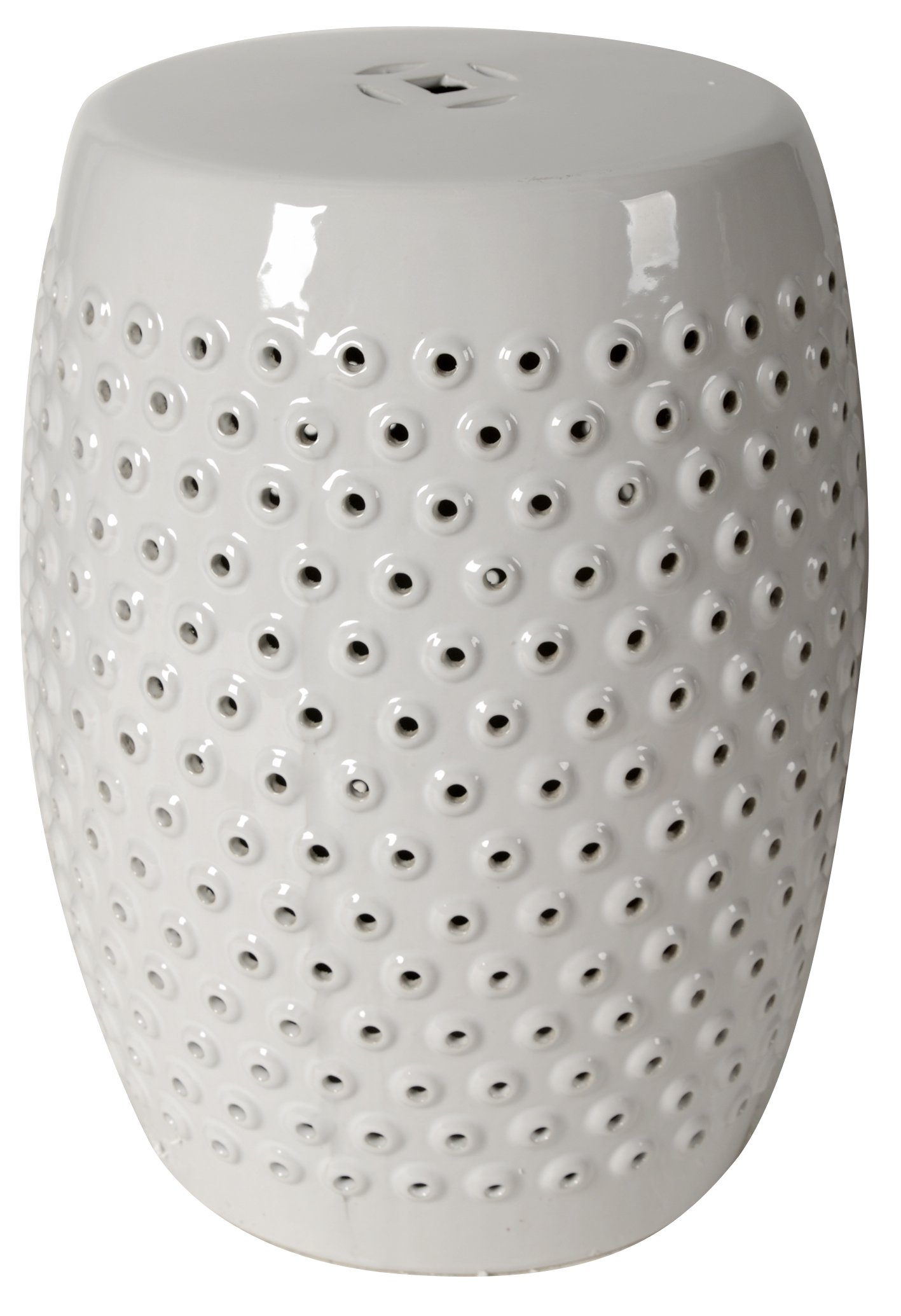 A&B Home Finley Patterned Ceramic Garden Stool