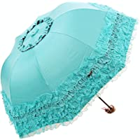 Honeystore Princess Lace Ultraviolet-Proof Folding Umbrella Anti-uv Dome Parasol