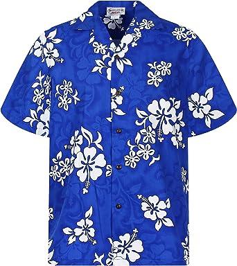 Pacific Legend | Original Camisa Hawaiana | Caballeros | S - 4XL | Manga Corta | Bolsillo Delantero | Estampado Hawaiano | Flores | Azul: Amazon.es: Ropa y accesorios
