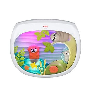 Fisher-Price - Proyector Animalitos, Juguete y Luz de Cuna para Bebé Recién Nacido (Mattel FXC59)