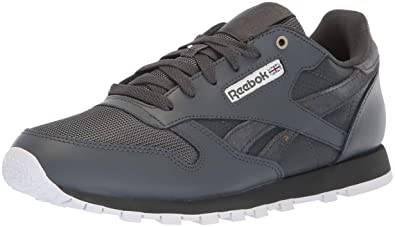 Reebok Unisex Classic Leather Sneaker, mc-Marble/Stealth/White, 5.5 M US Big Kid