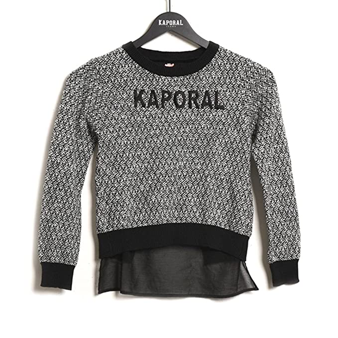 Pull Kaporal Pull Noir Taille 16 ans: Amazon.
