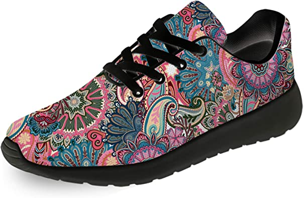 Mens Womens Vintage Batik Running Shoes