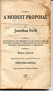 com a modest proposal ebook jonathan swift kindle store a modest proposal non illustrated