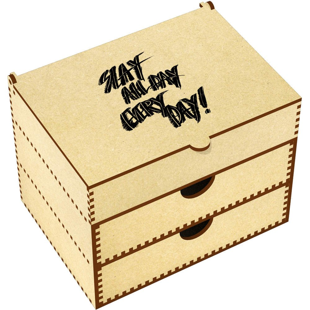 'Slay All Day Every Day' Vanity Case / Makeup Box (VC00012742)
