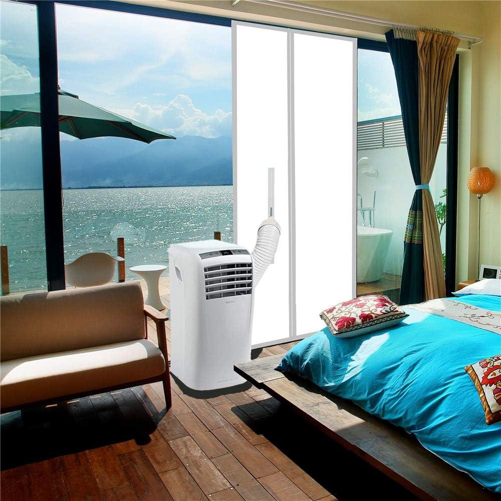 Tapa de la puerta sellado de la puerta para aires acondicionados móviles | Salida de aire acondicionado | Tope de aire caliente para la fijación a puerta, 210 x 90 cm
