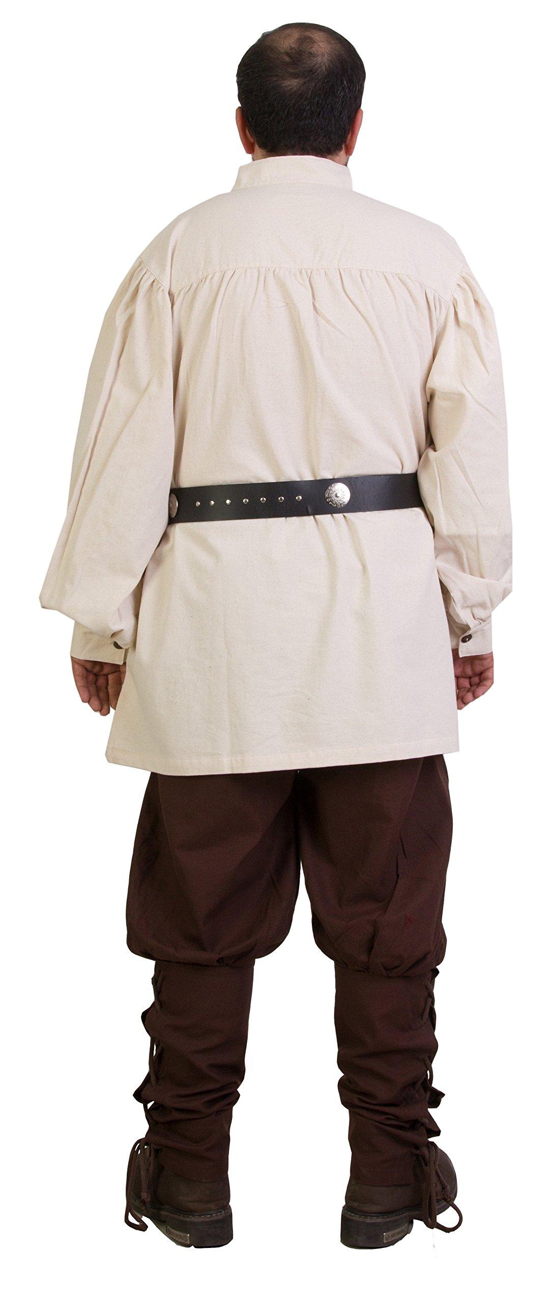 byCalvina - Calvina Costumes ERMES Medieval Viking LARP Pirate Cotton Man Shirt - Made in Turkey-Nat-2XL by byCalvina - Calvina Costumes (Image #7)