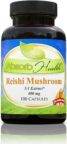 Reishi Mushroom 5 1 Extract 400mg 100 Capsules Immune Health