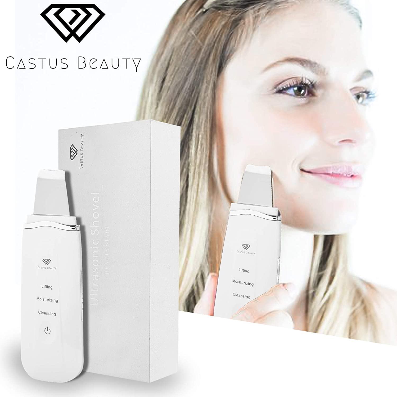 Blackhead Remover Facial Skin Scrubber Castus Beauty-Pore Cleaner-Skin Exfoliator-Facial Skin Lifting-Comedone Extractor