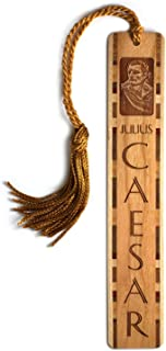 product image for Personalized Julius Caesar Portrait with Name - Engraved Wooden Bookmark with Tassel