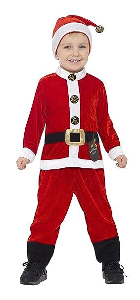 Smiffys Smiffys-21488S Disfraz de Papá Noel para niño ...