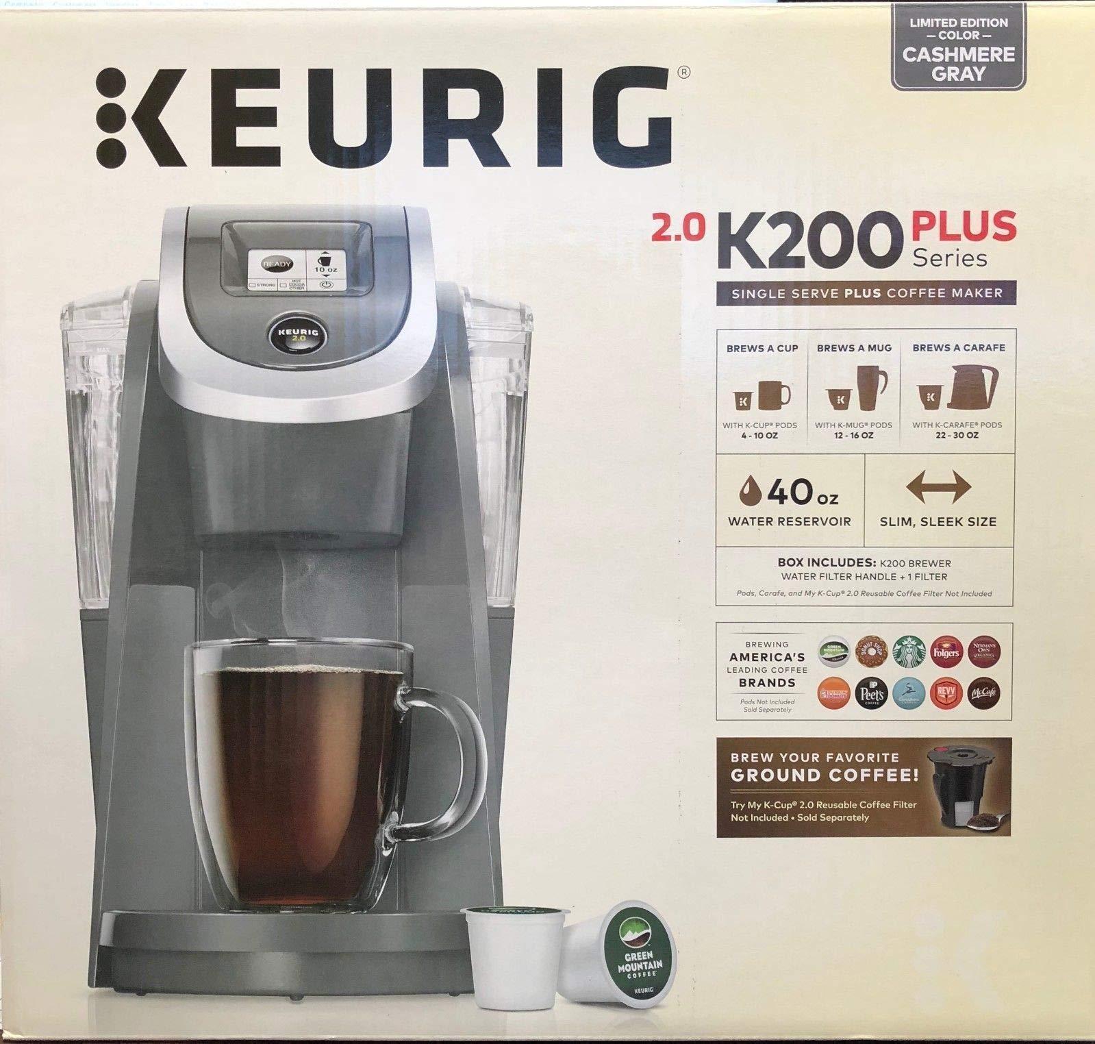 Keurig K200 Single Serve K-Cup Pod Coffee Maker - - Cashmere Gray - Limited Edition by Keurig