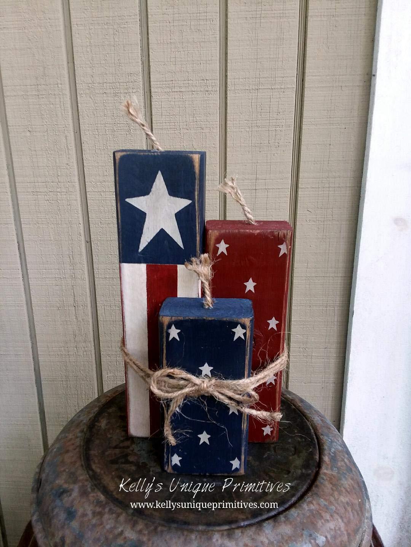 Firecrackers Americana Decor Patriotic Decor Country Decor Primitive Decor