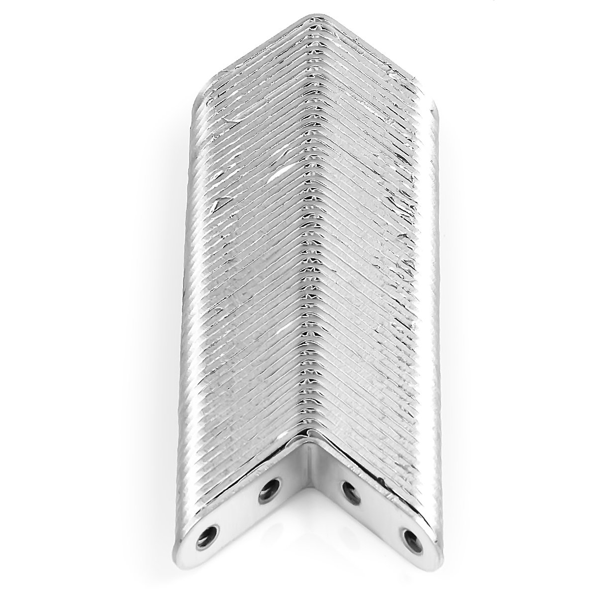 40mm x 40mm x 16mm Eliseo 50 Pack Stainless Steel 90 Degree Angle L Shaped Bracket,Corner Brace Joint Bracket Fastener 4 Holes Silver Tone Round End Heavy Duty Metal