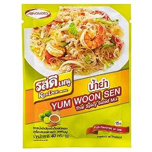 RosDee menu, Thai Spicy Salad Mix, Thai Spicy Salad Sauce Powder 40g X 3 Packs