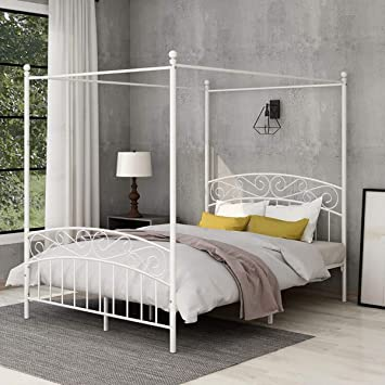 Amazon Com Yollen Canopy Bed With Sturday Metal Bed Frame No Box