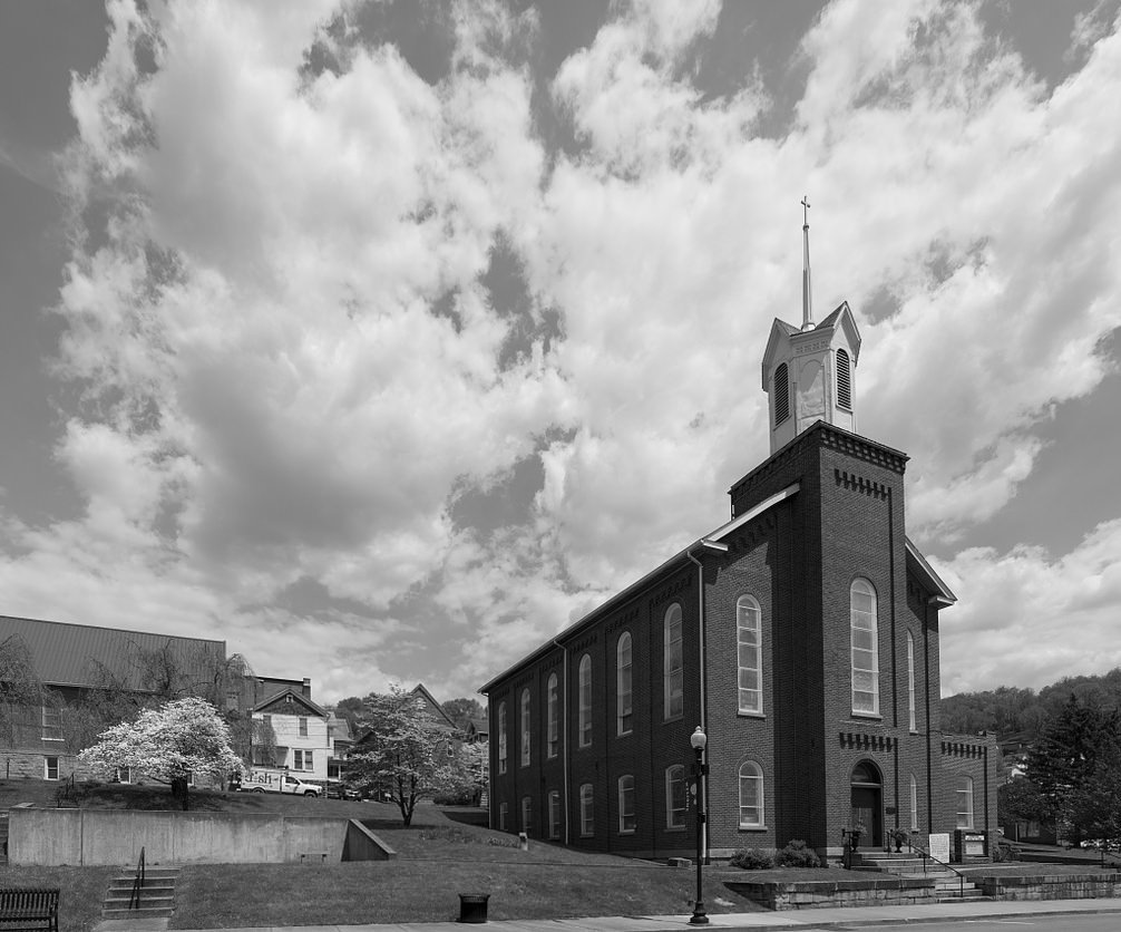 Amazon com 8 x 12 black white photo andrews methodist episcopal church the international mothers day shrine grafton west virginia 2015 highsmith 37a