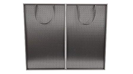 Playwin 40 x 24 x 3 3 4 All Black Folding Pegboard Display Suitcase