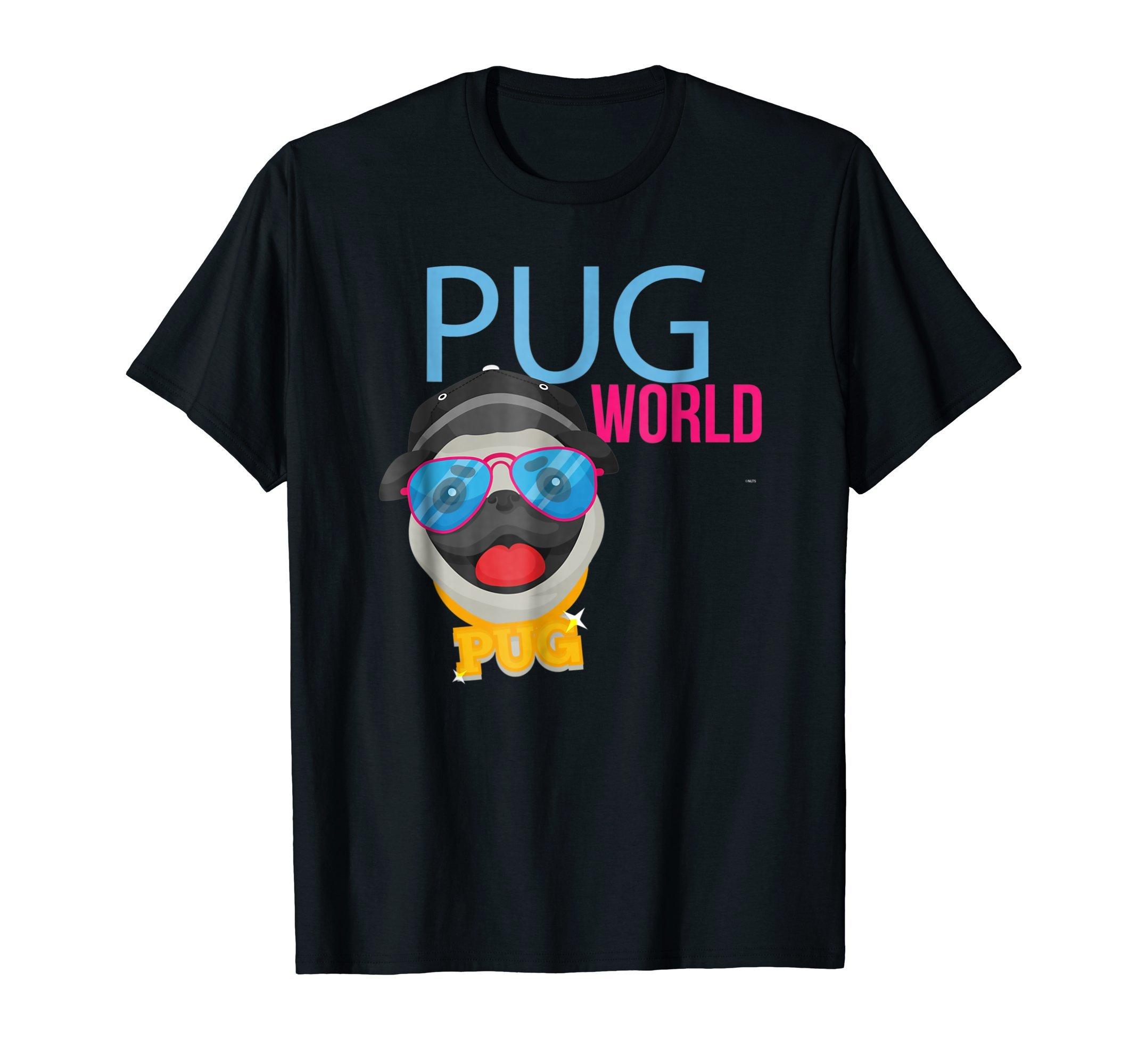 Pug-World-Humor-Funny-T-Shirt-Shirt-Tee-Gift