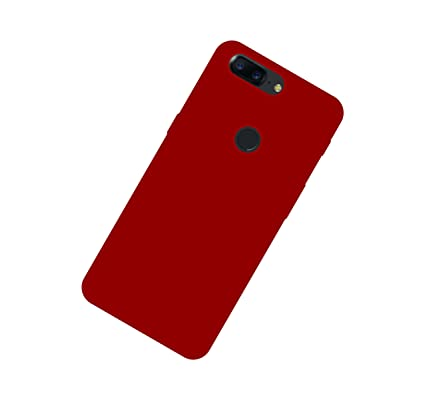 size 40 42cc2 873c7 Case Creation Soft Silicone Cover for OnePlus 5T (Wine Red)