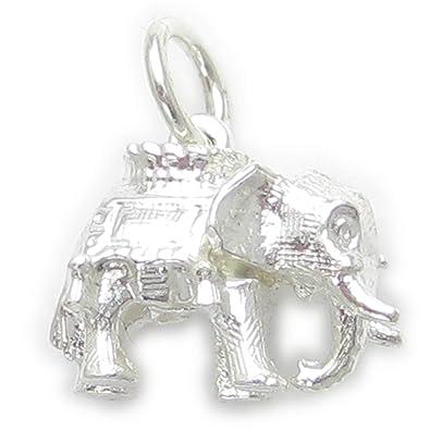e390be6ff5b0 Elefante de plata de ley 925 para pulsera. 1 x colgantes de elefantes EC327