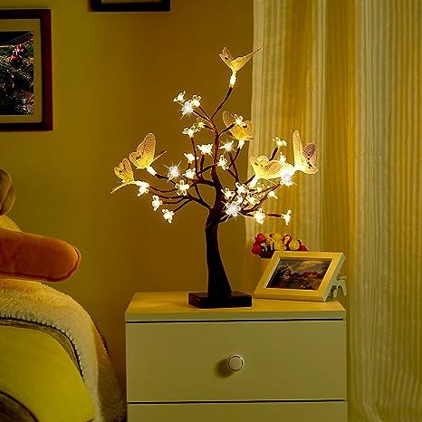 Finether Arbre Lumineux Guirlande Led Guirlande Lumineuse Lampe De