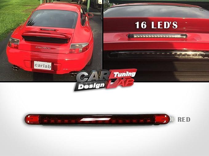 Trasero LED Rojo tercer tercera parada luz de freno Lámpara Rojo Lente para 911 996: Amazon.es: Coche y moto