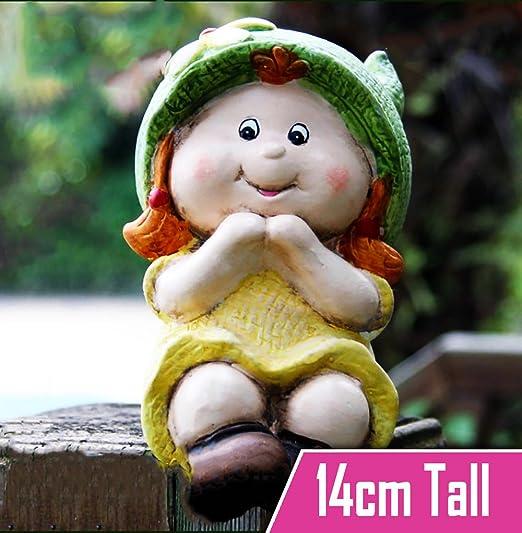 Gnomos de jardín para decoración, diseño de un niño y una niña, Girl Gnome: Amazon.es: Jardín
