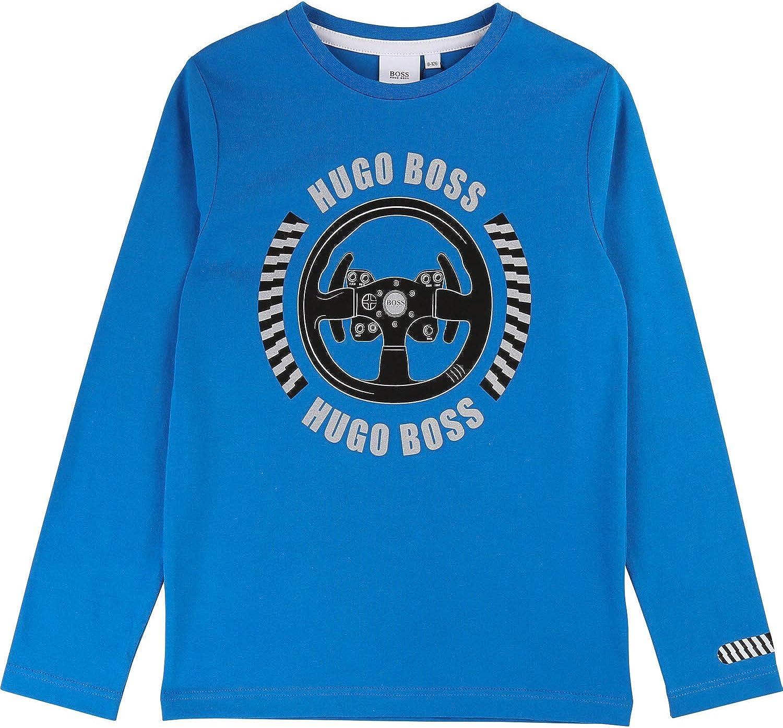 Hugo Boss - Camiseta de Manga Larga con diseño de Bicicleta ...
