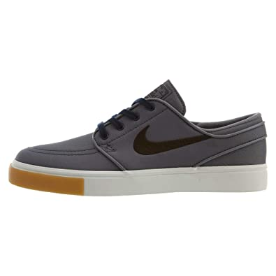 watch 9d686 67e1f Nike Zoom Stefan Janoski CNVS Mens Fashion-Sneakers 615957-025 8 - Grey Black  White