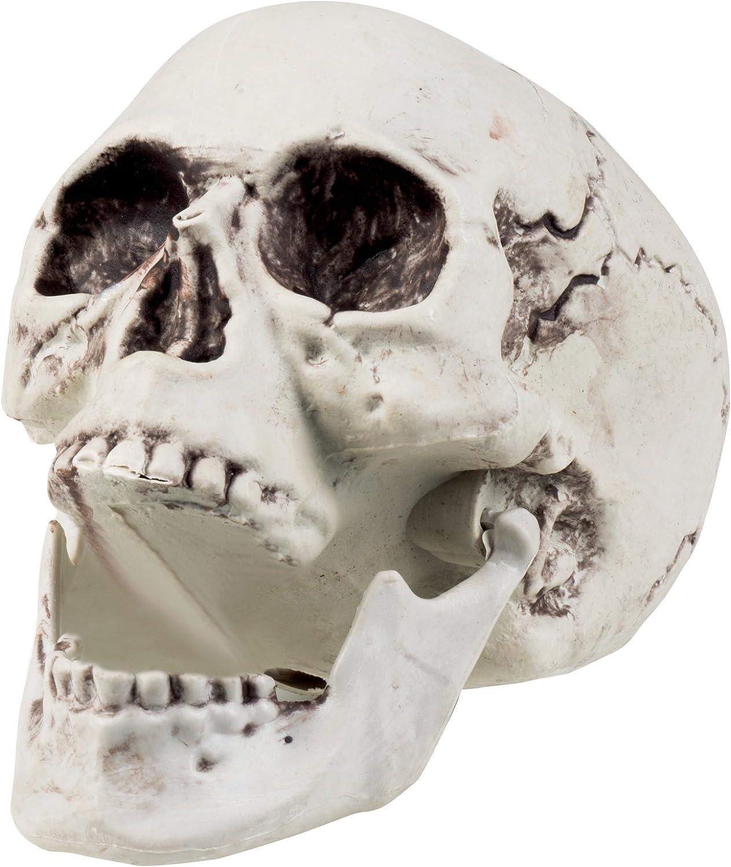 Calavera decorativa con mand/íbula abatible Boland blanco 74362/