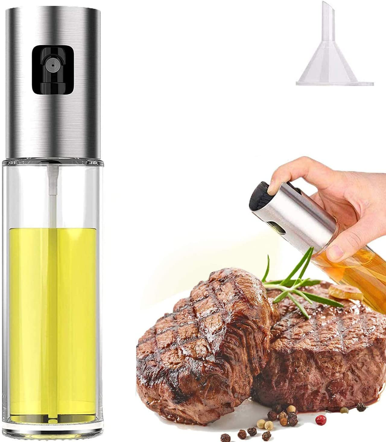 Olive Oil Sprayer for Cooking, Oil Spray Bottle Versatile Glass for Cooking, Baking, Roasting, Grilling