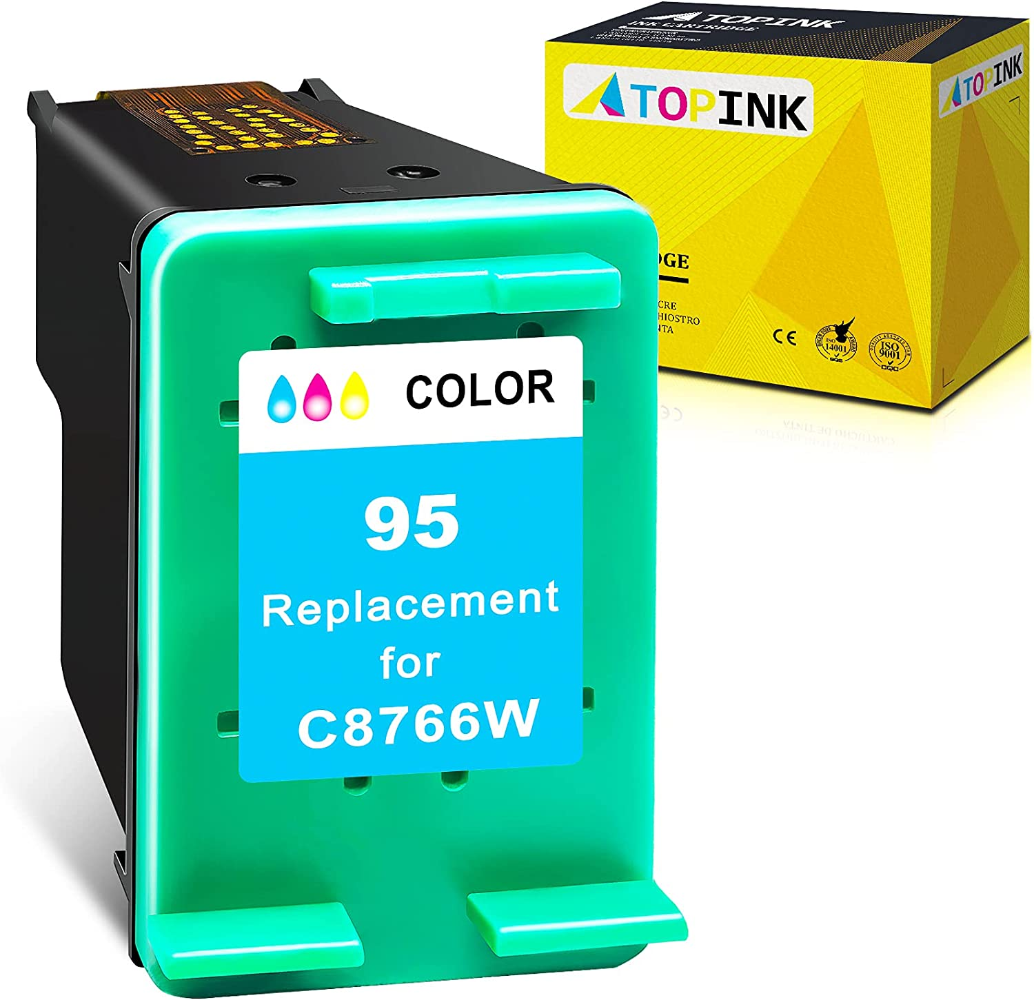 ATOPINK Remanufactured Ink Cartridge Replacement for HP95 95 Work with Officejet 100 150 7410 7210 6210 Photosmart 2610 C3180 C3140 8150 2575 c3100 8450 C3135 Psc 1510 1610 1500 Printer (1 Tri-Color)