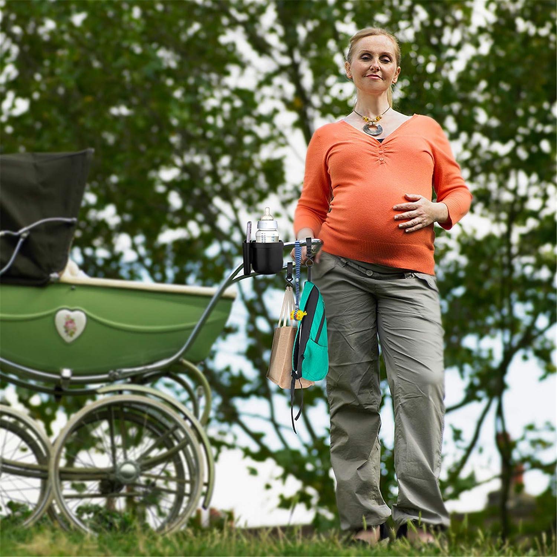 Getr/änkehalter f/ür Kinderwagen Buggy,Universal Fahrrad Kinderwagen Buggy Flaschenhalter Babyflasche,Getr/änke und Kaffeetassenhalter mit Telefonaufbewahrungsbox,f/ür Kinderwagen und Fahrrad