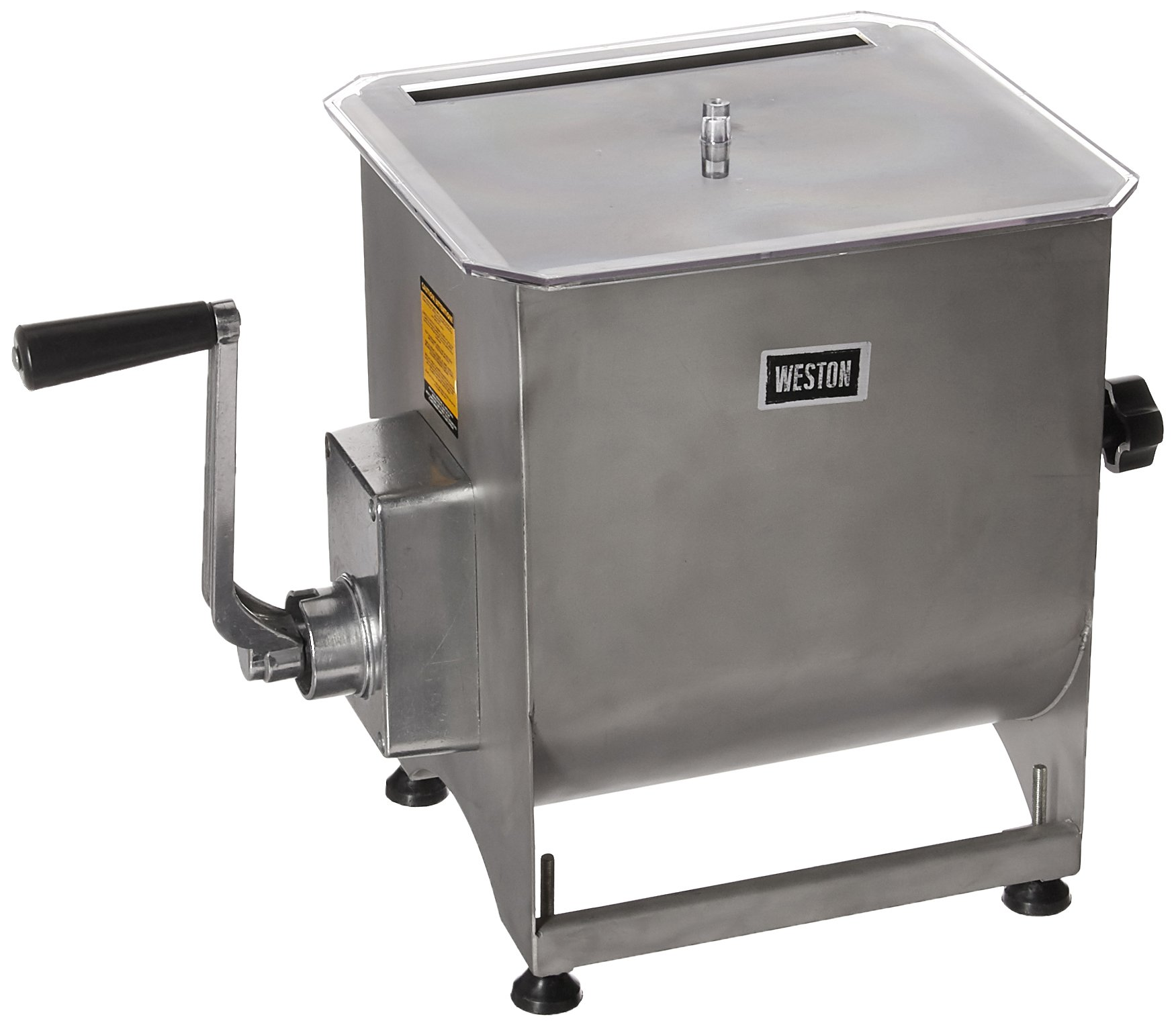 Weston Stainless Steel Meat Mixer, 44-Pound Capacity (36-2001-W), Removable Mixing Paddles by Weston
