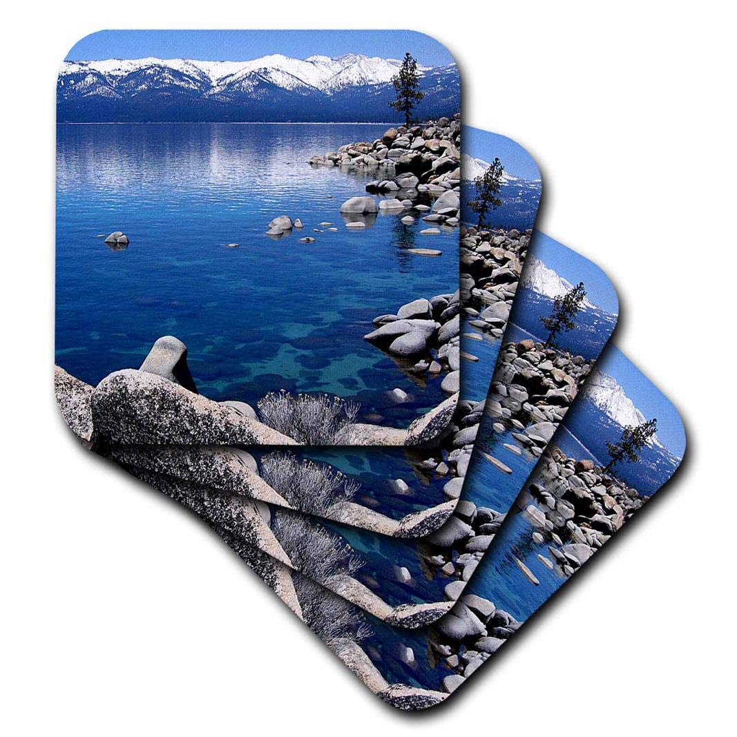 3dRose CST/_21901/_1 Tahoe Snow MTS-Soft Coasters Set of 4