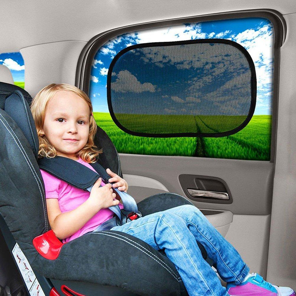 Gaweb Car Sun Shade Car Side Rear Window Screen Sunshade Windshield UV Protection Mesh Cover Visor by Gaweb (Image #5)
